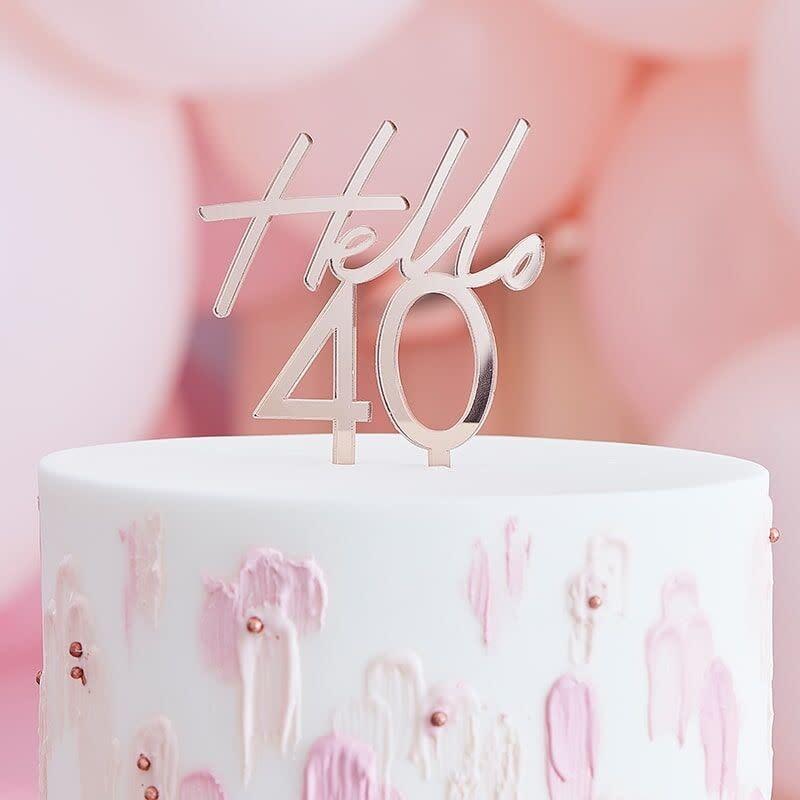 GINGERRAY 40TH BIRTHDAY CAKE TOPPER