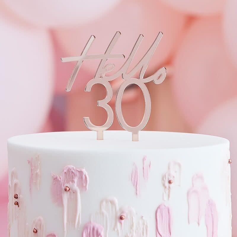 GINGERRAY 30TH BIRTHDAY CAKE TOPPER