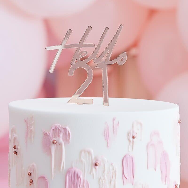 GINGERRAY 21ST BIRTHDAY CAKE TOPPER