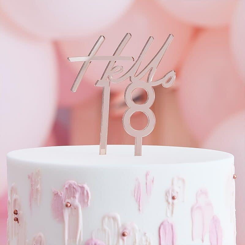 GINGERRAY 18TH BIRTHDAY CAKE TOPPER