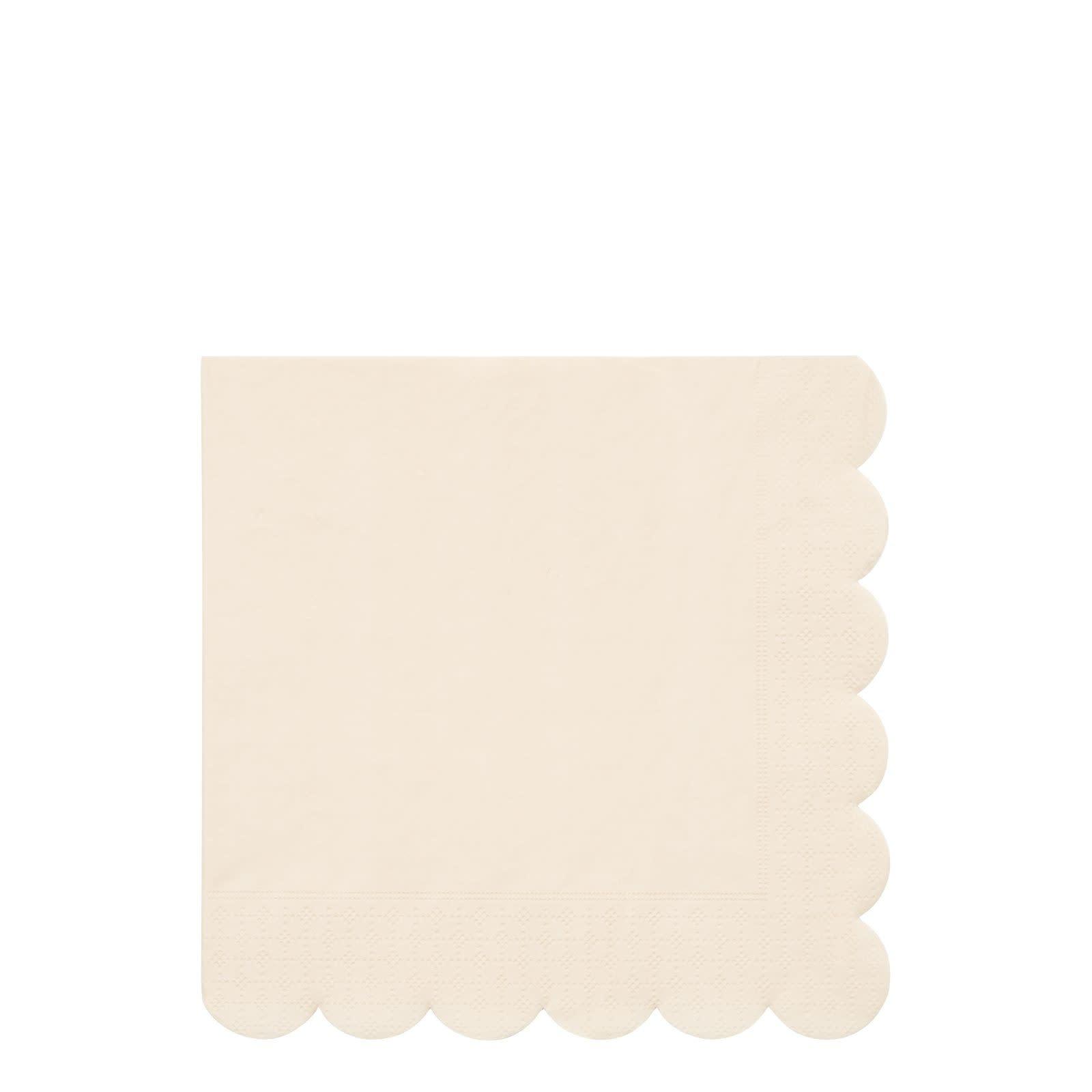 MERIMERI Cream simply eco napkins L