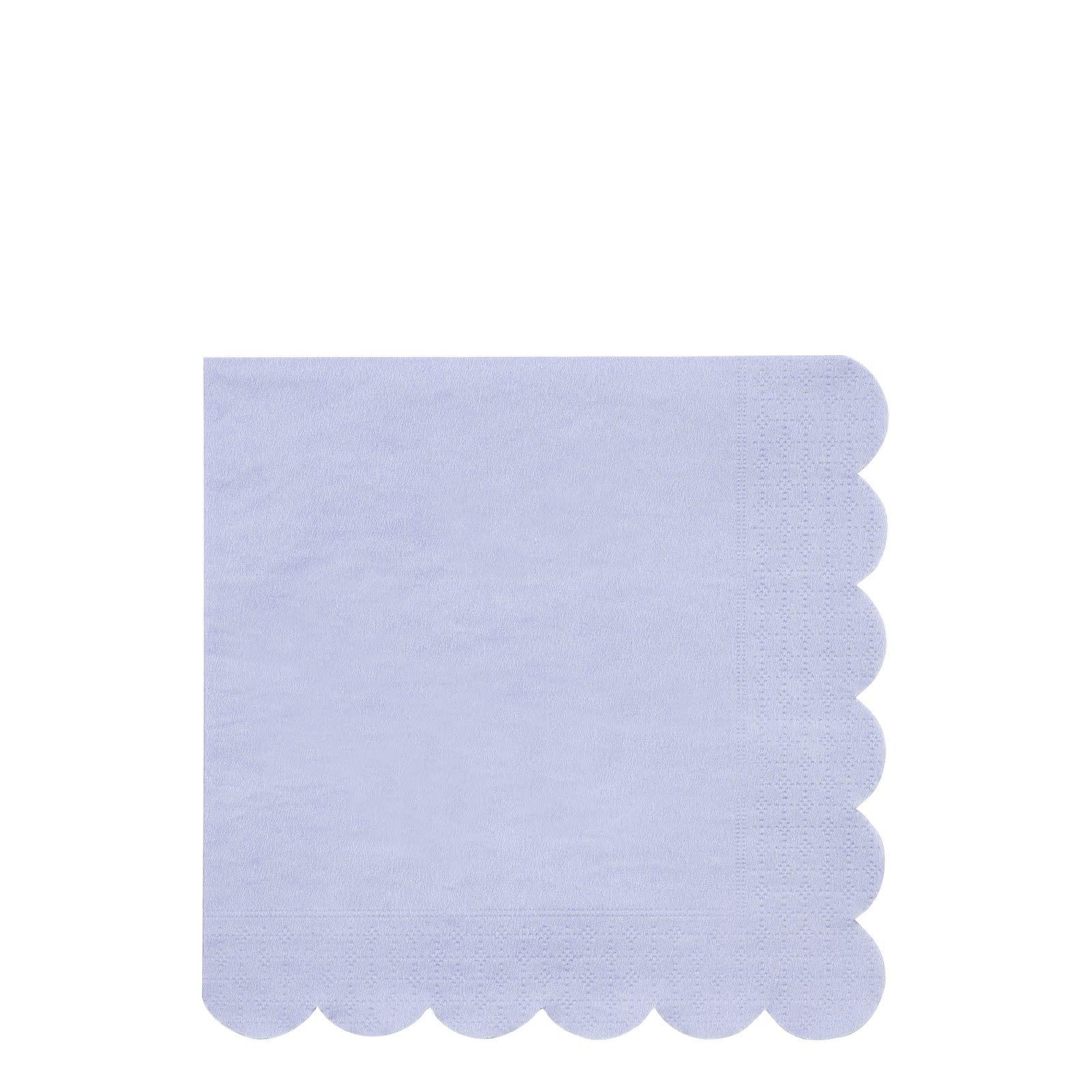 MERIMERI Blue simply eco napkins L