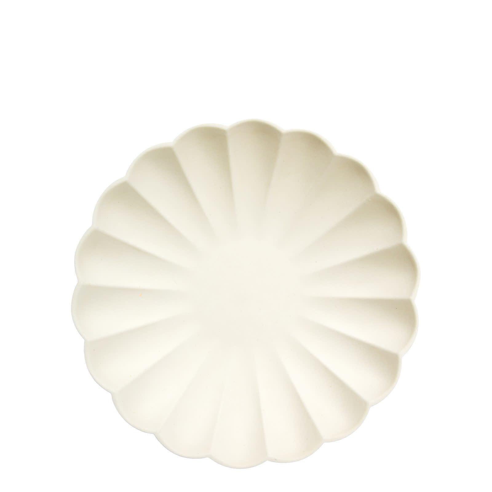 MERIMERI Cream simply eco plates S