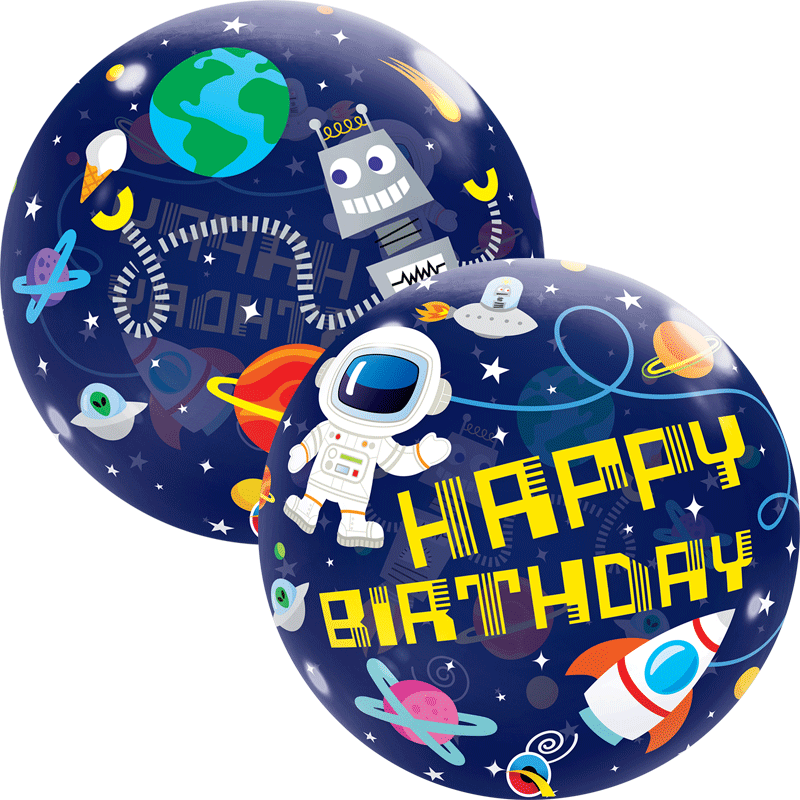 SMP Birthday Outer Space bubble balloon 56 cm