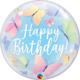 SMP Birthday Soft Butterflies bubble balloon 56 cm