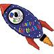 SMP birthday rocket foil balloon 102 cm