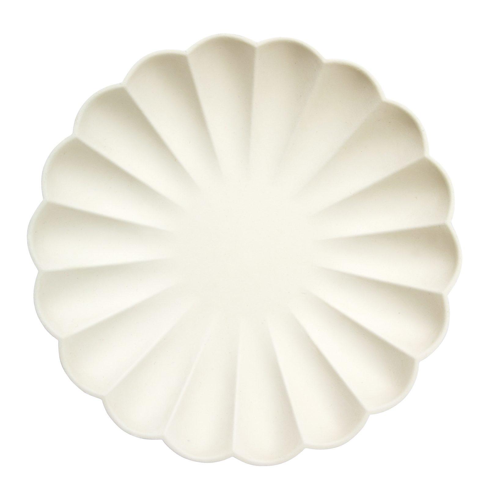 MERIMERI Cream simply eco plates L