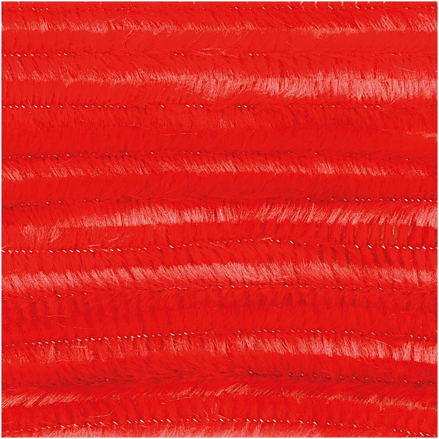 Rico NAY CHENILLE STICK RED 10 X 50CM, DIA 9MM