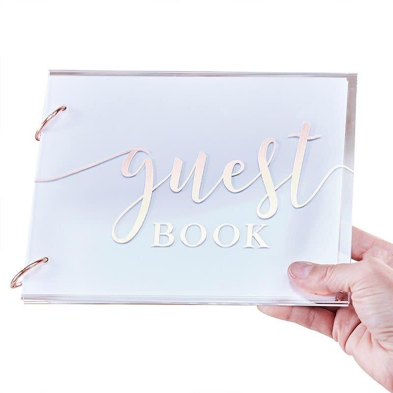 GINGERRAY ACRYLIC WEDDING GUEST BOOK