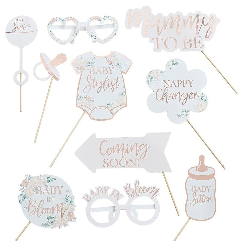 GINGERRAY FLORAL BABY SHOWER PHOTO BOOTH PROPS