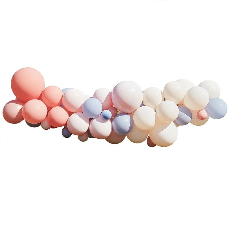 GINGERRAY BLUSH, NUDE & BLUE HEN PARTY BALLOON ARCH KIT