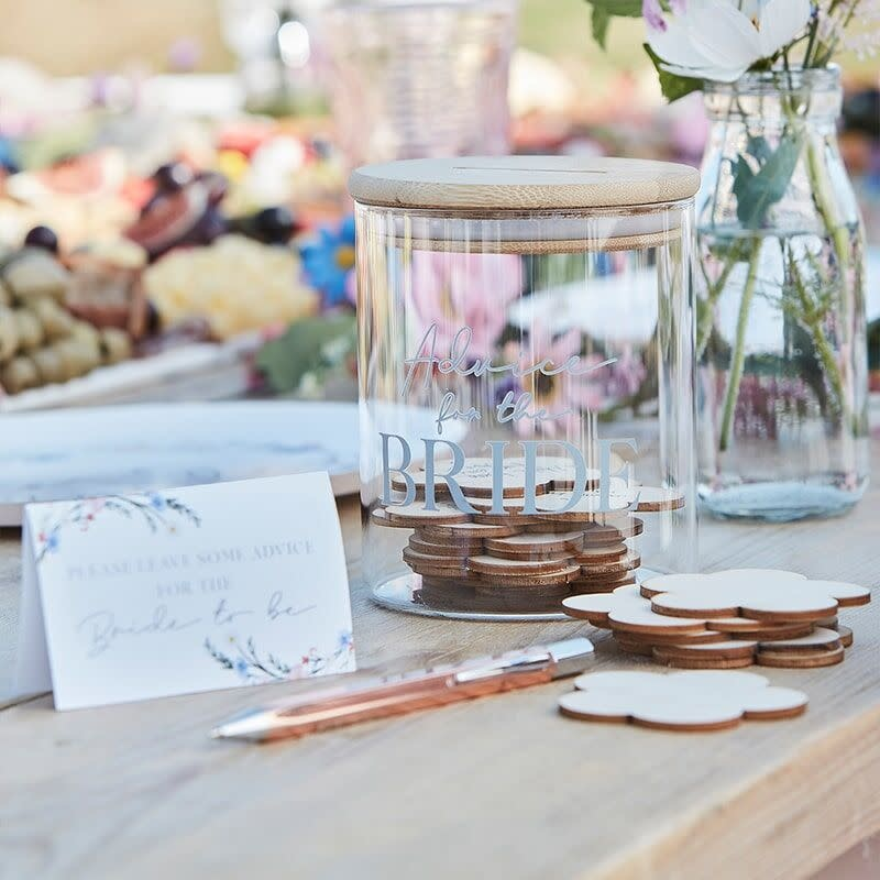 GINGERRAY ADVICE FOR THE BRIDE MESSAGE JAR