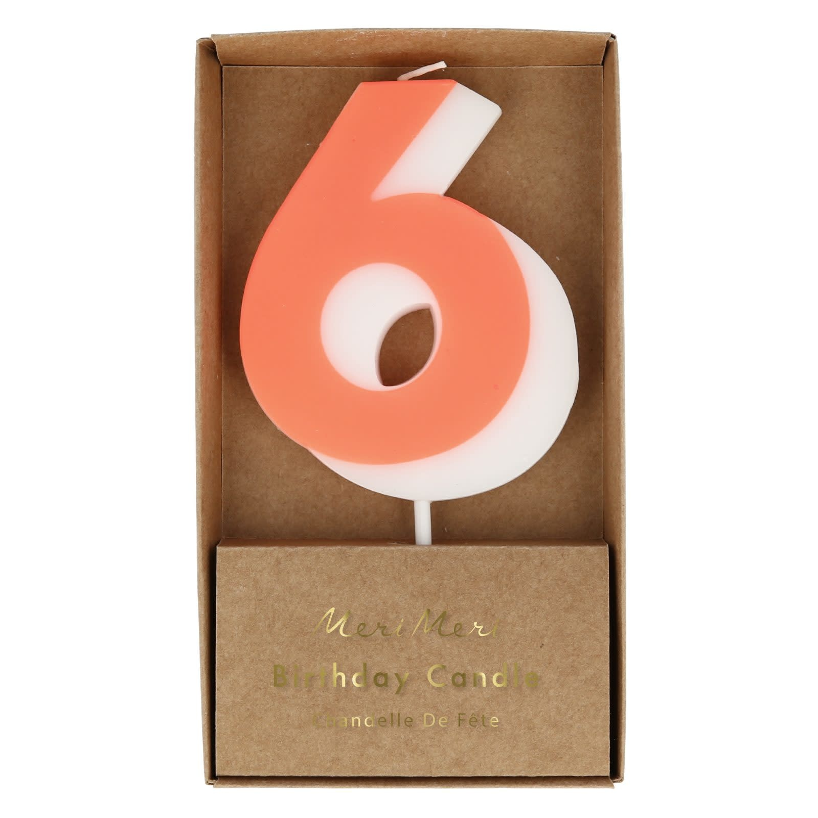 MERIMERI Color number 6 candle