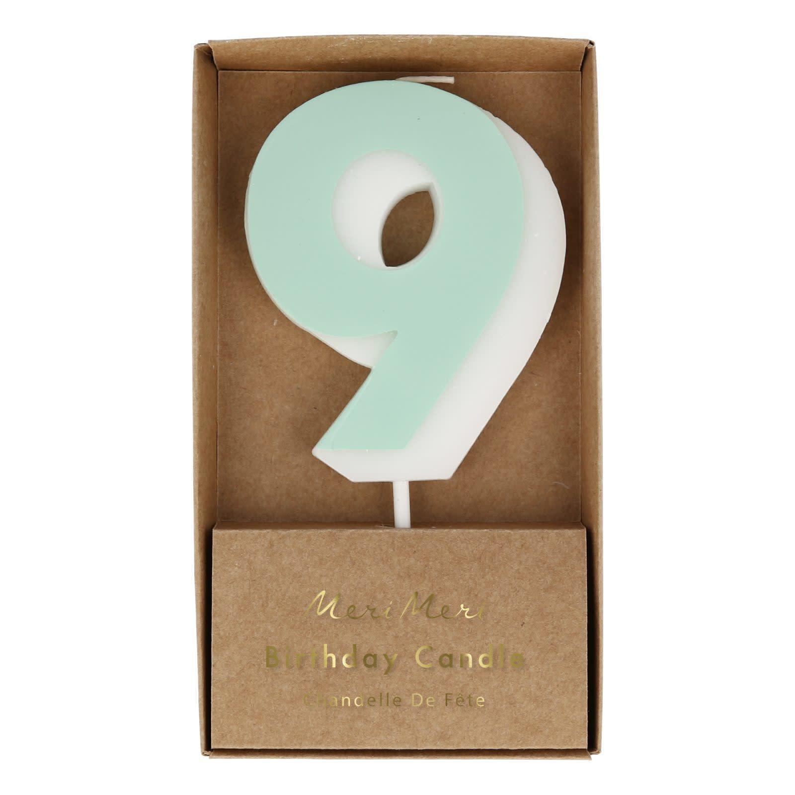 MERIMERI Color number 9 candle