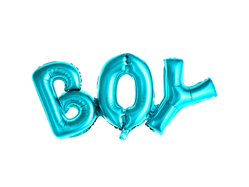PD Foil Balloon Boy, 67x29cm, blue