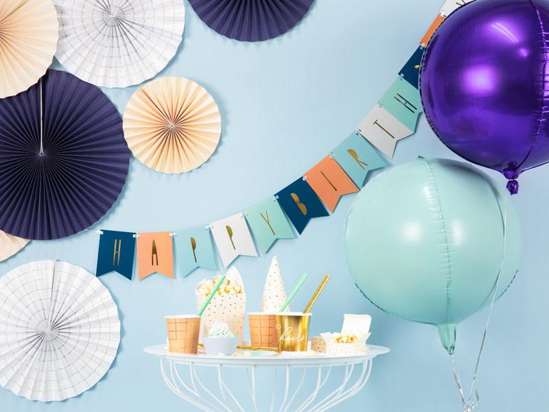 PD Foil Balloon Ball, 40cm, violet