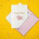 PD Card with enamel pin Balloon dog, 10.5x14.8cm