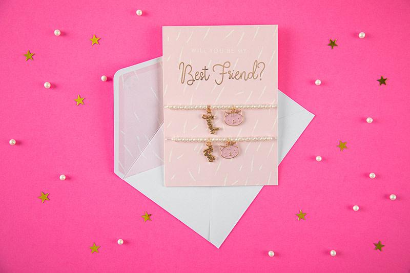 PD Card with bracelets Best Friends, 10.5x14.8cm