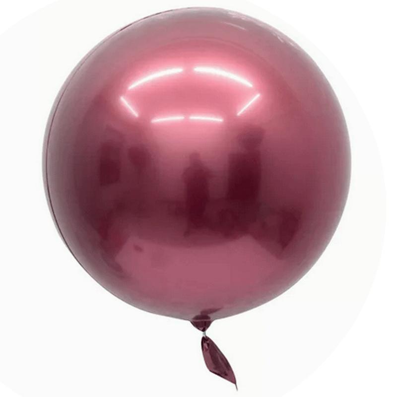 SMP 1 Bobo Rose balloon, mirror effect 45 cm