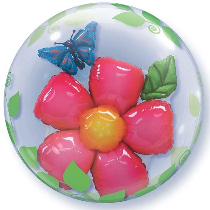 SMP double bubble flower leaves balloon 60 cm