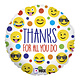 SMP emoji thanks circle foil balloon 45 cm