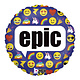 SMP emoji epic circle foil balloon 45 cm