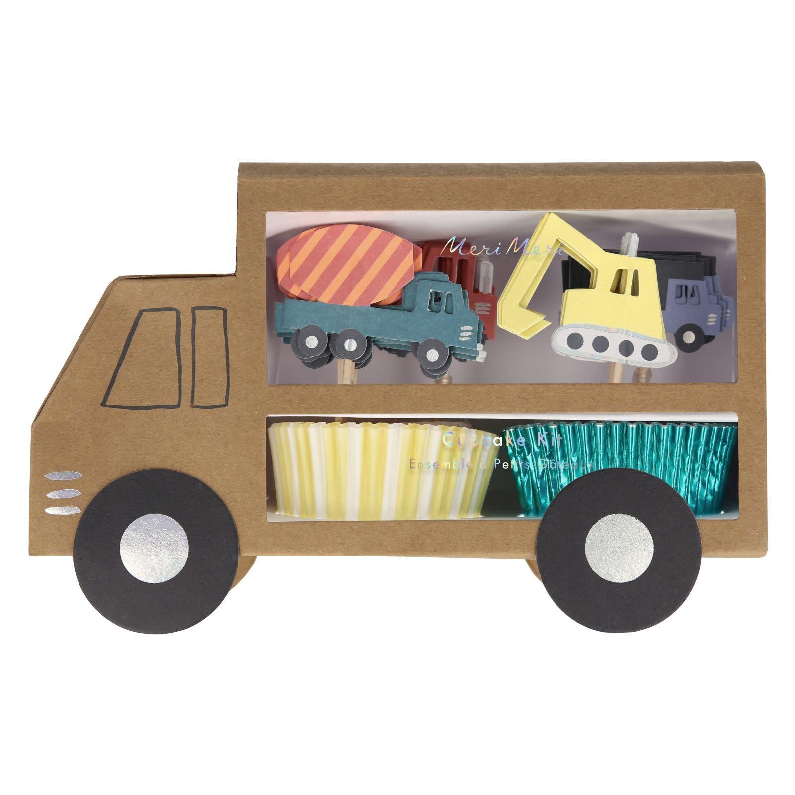 MERIMERI Construction cupcake kit