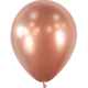 SMP 25 x latex balloons rose gold chrome 12,5 cm 100 % biodegradable
