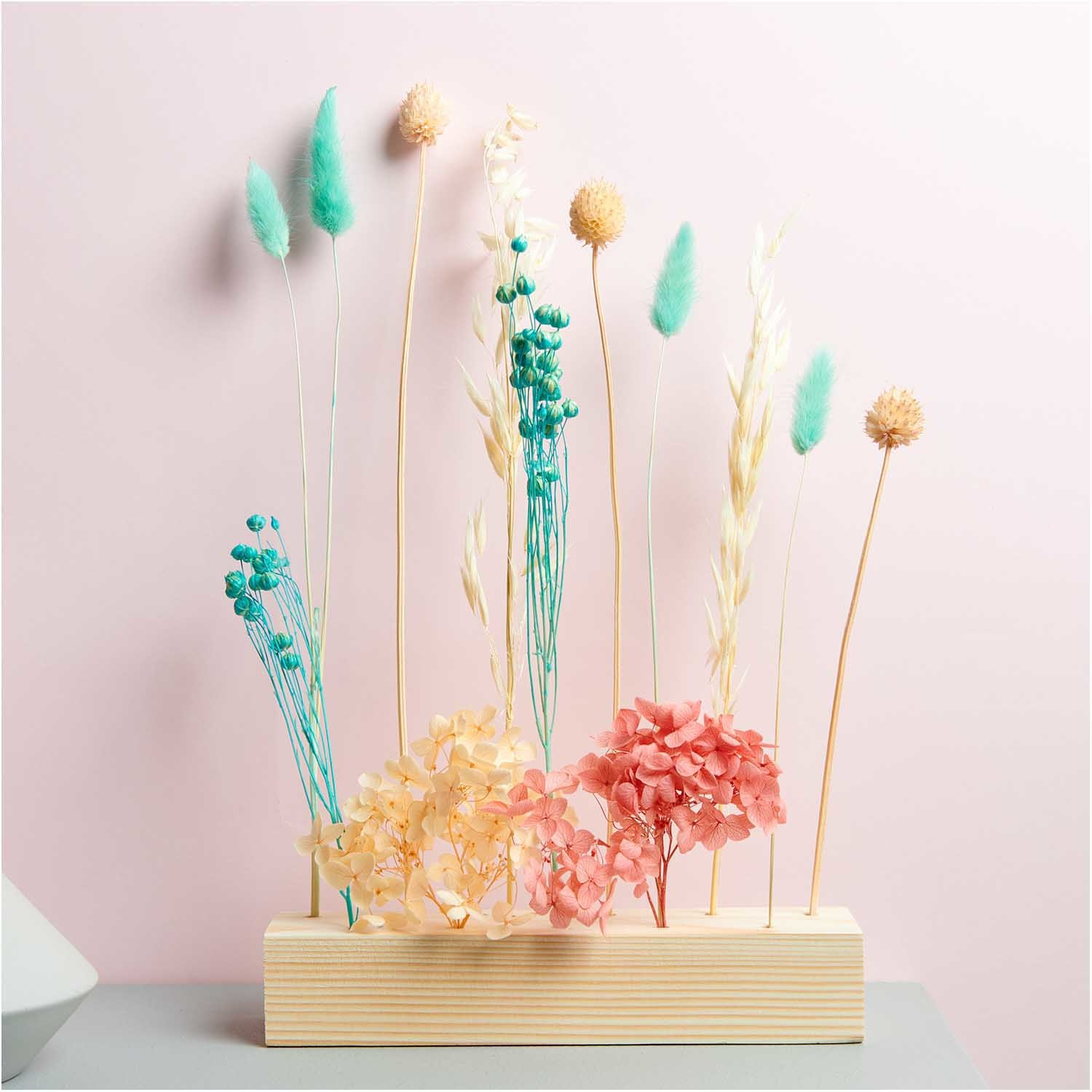Rico NAY Dried flowers set, pastel turquoise