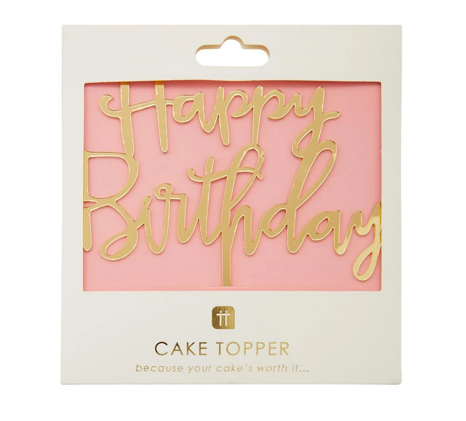 TT Rose gold acrylic Happy Birthday Cake Topper