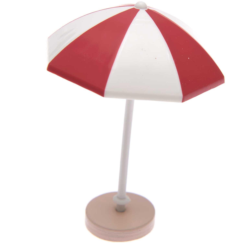 Rico NAY Decoration sunshade, red/white, 5,5x7,5 cm, plastic