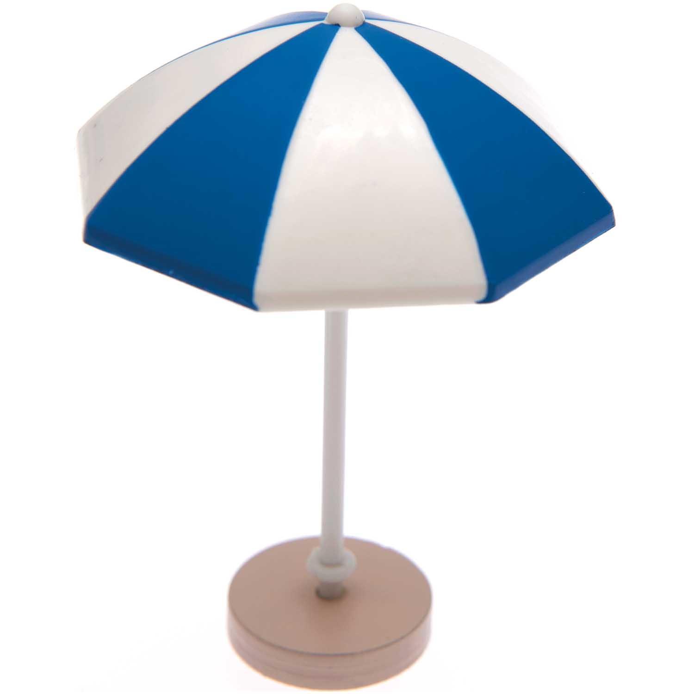 Rico NAY Decoration sunshade, blue/white, 5,5x7,5 cm, plastic