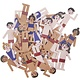 Rico NAY Deco-confetti swimmers, blue, red, wood, 36 pcs, 10 x 35mm - 20 x 35mm