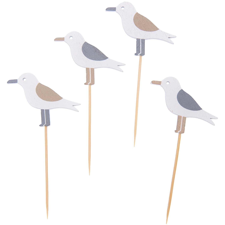 Rico NAY Deco-picks seagull, nature, wood, 80mm, 4 pcs