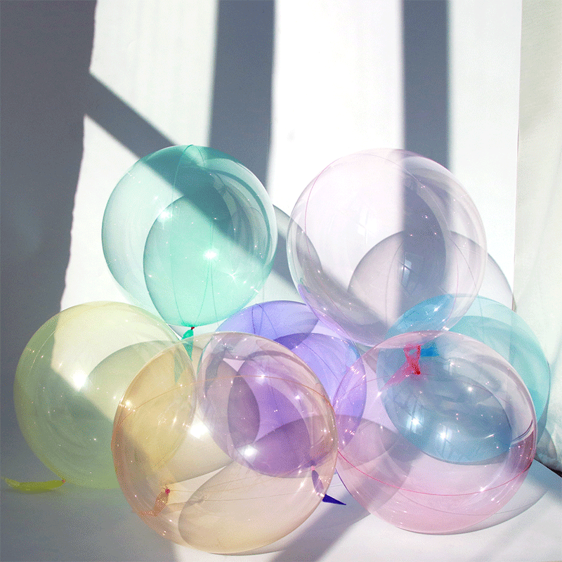 SMP Crystal Bubble Balloon Yellow 45 cm