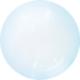 SMP Crystal Bubble Balloon Blue 45 cm