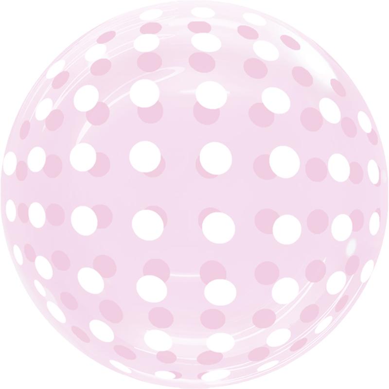 SMP Dots Bubble Balloon Pink 45 cm