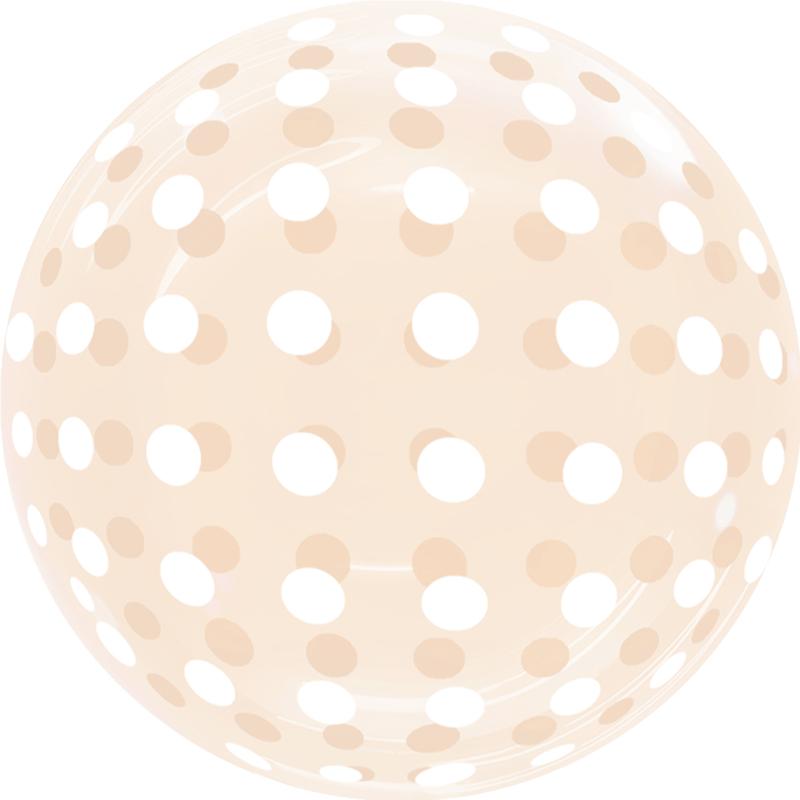 SMP Dots Bubble Balloon Orange 45 cm