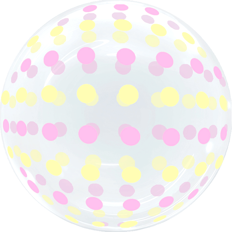 SMP Dots Bubble Balloons Pink and Yellow 45 cm