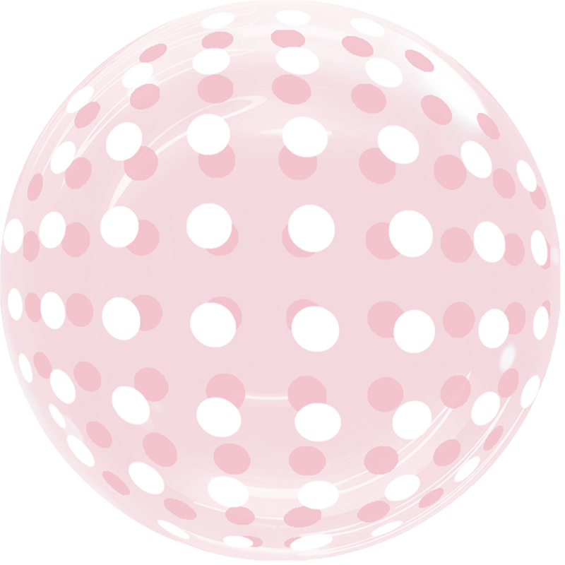 SMP Dots Bubble Balloon Red 45 cm