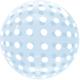SMP Dots Bubble Balloon Blue 45 cm
