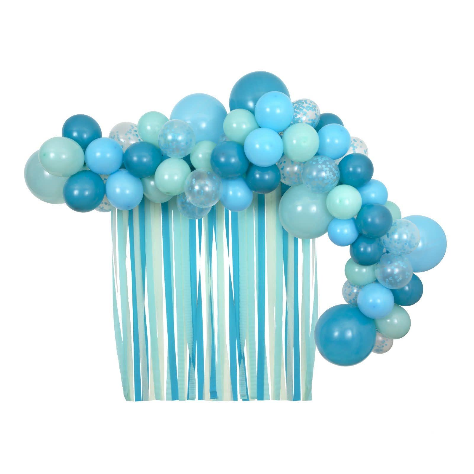 MERIMERI Blue balloon & streamers kit