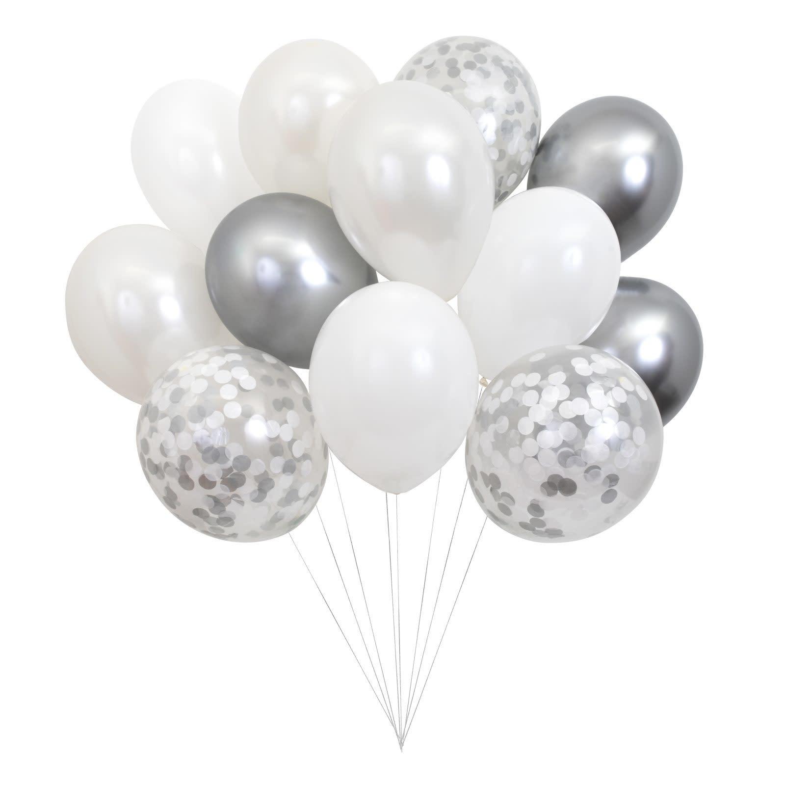 MERIMERI Beautiful balloons silver
