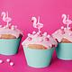 PD Birthday candles Flamingos, 3cm