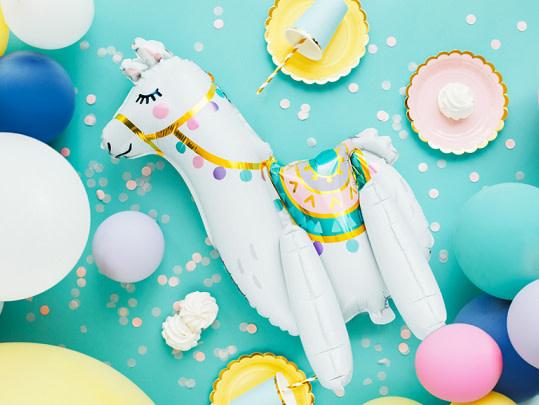 PD Foil balloon Llama, 39x61cm, mix