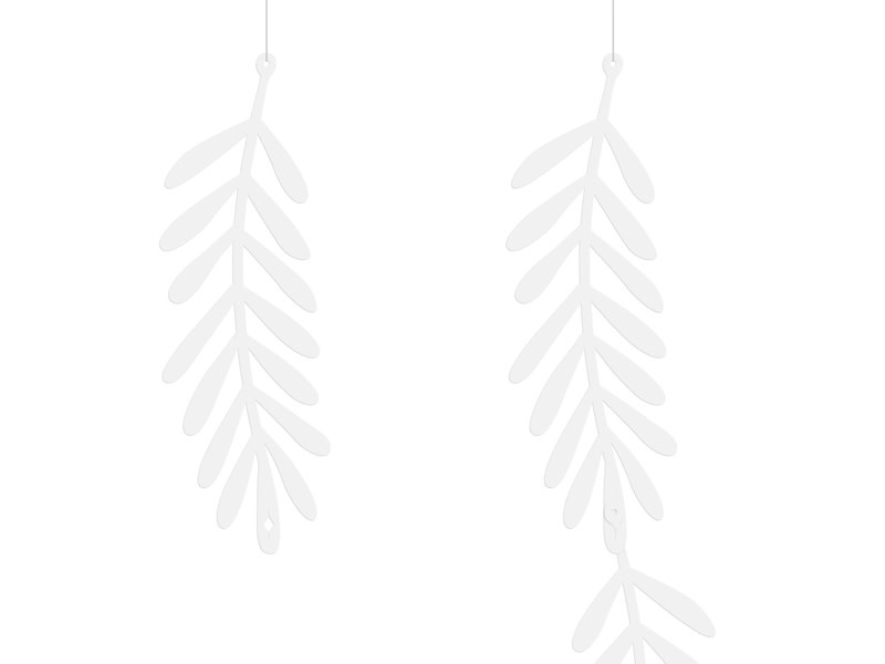 PD Garland Branches, white, 1.8m