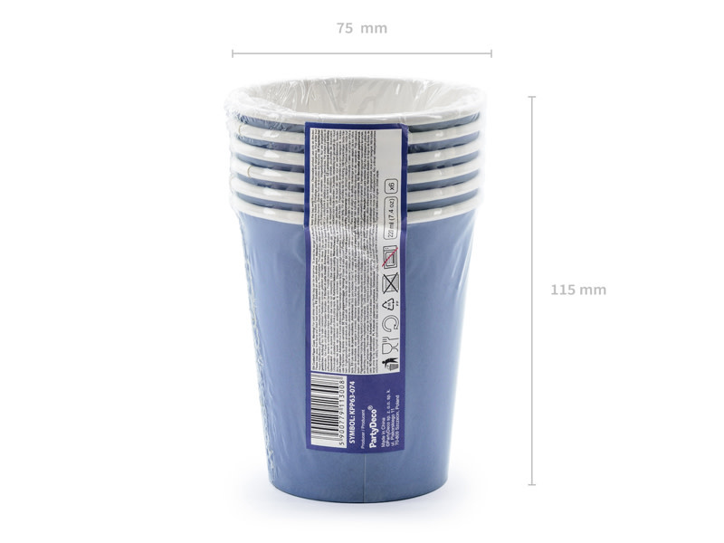 PD Cups Happy B'day!, navy blue, 220ml