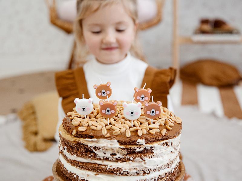 PD Birthday candles Bear, mix, 3cm