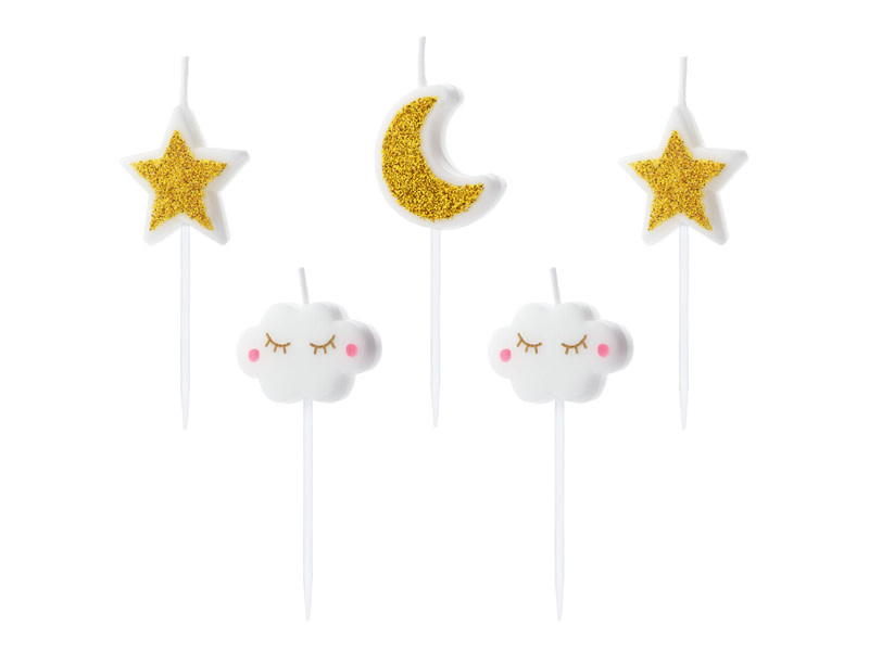 PD Birthday candles Little Star, mix, 2-3cm