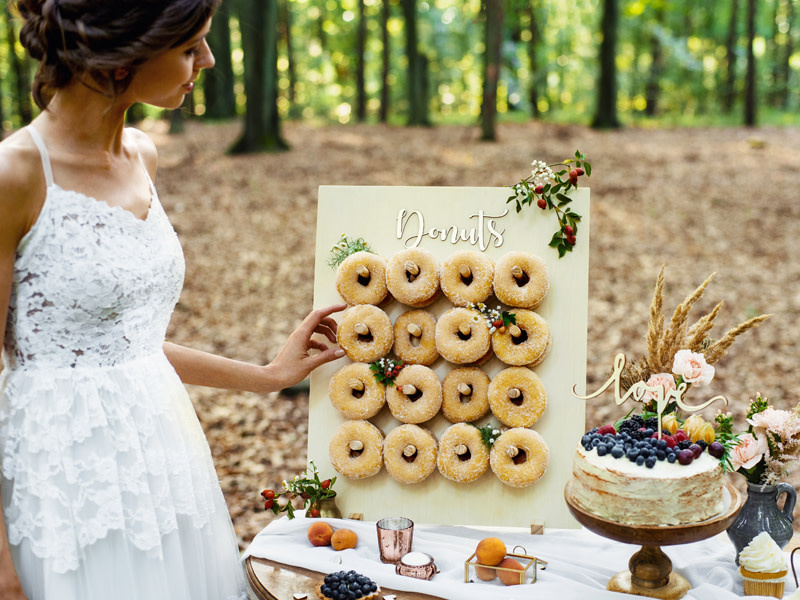 PD Donut Wall, natural wood, 45x55cm